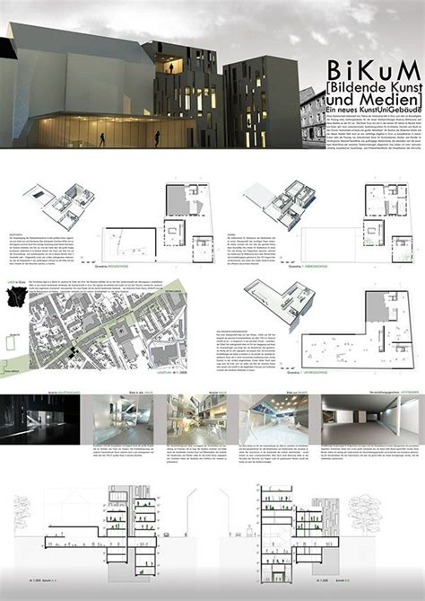 architecture design sheet layout presentation of the diploma project bikum on three a0