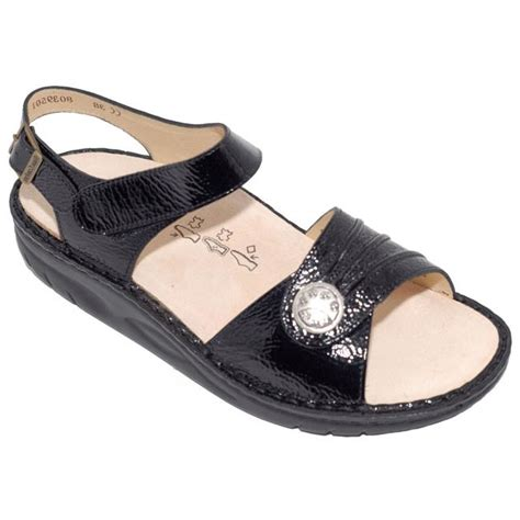 Finn Comfort Sausalito by Finn Comfort Sausalito Patent Leather Soft Black