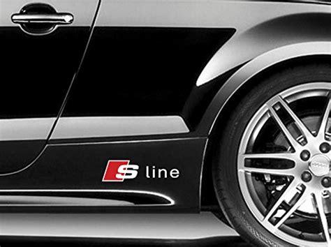 Tuning Hersteller Aufkleber by 2x Audi S Line Schweller 20cm Farbwahl Decal Tuning