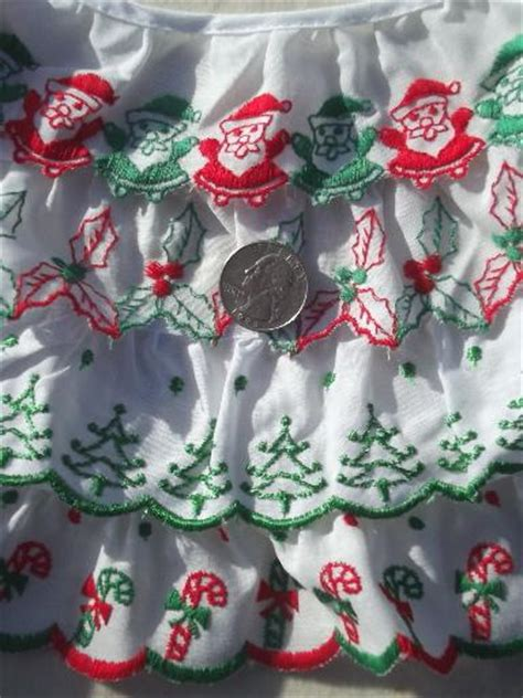 christmas sewing trim lot eyelet plaid ruffle edgings