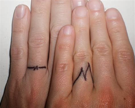 wedding ring finger tattoos designs wedding band tattoos for couples