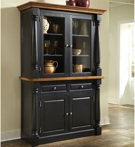 China Kitchen Cabinets Home Styles Monarch China Cabinet Black Oak China Cabinets At Hayneedle