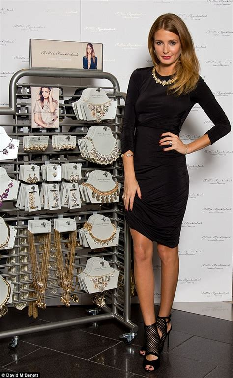 Dress Mic Mol millie mackintosh in asymmetric lbd as she launches new jewellery collection daily mail