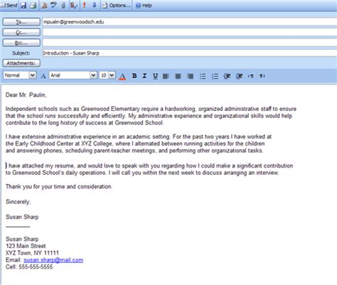 email format cc get formatting tips for composing a job winning cover letter