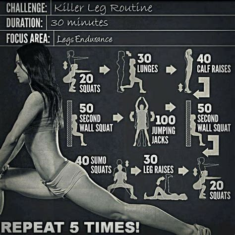 leg workout no equipment required work