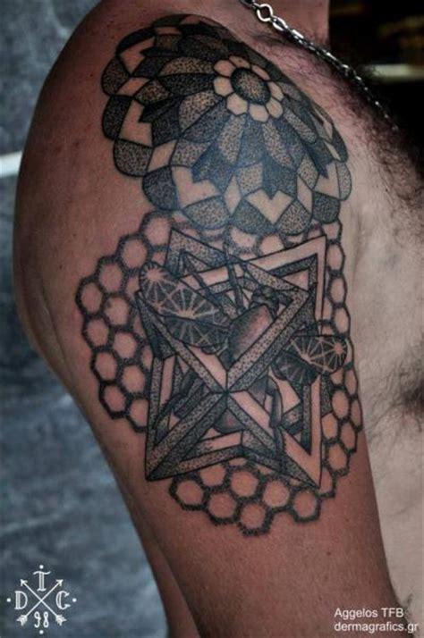 tattoo shoulder dotwork shoulder dotwork moth geometric tattoo by dermagrafics