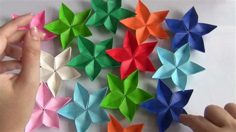 Flores Origami - flor de origami my crafts and diy projects