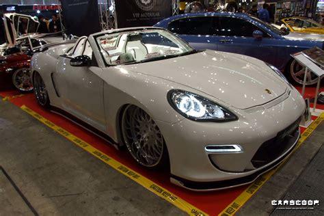 porsche sedan convertible car show 2011 nissan 350z poses as a porsche panamera