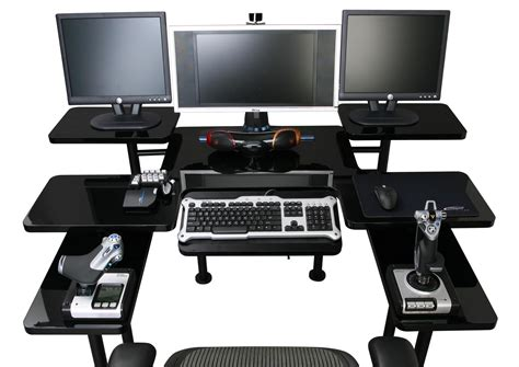 Pc Desk For Gaming Ergonomic Gaming Deskherpowerhustle Herpowerhustle