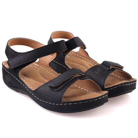 comfortable sandals for walking unze womens nuty comfortable walking sandals uk size 3 8 black