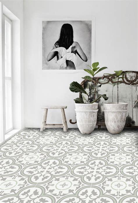 Vinyl Floor Tile Sticker   Trefle Thistle   Cottage in the
