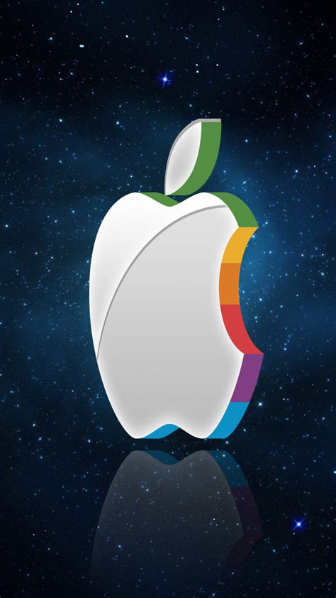 wallpaper iphone 6 new year 3d apple logo in the space wallpaper iphone 6 plus