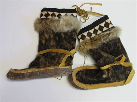 Handmade Mukluks Canada - handmade alaska eskimo mukluks moccasins fur lined boots