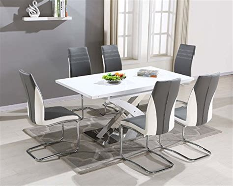 modern interior design with chic gray kitchen table and
