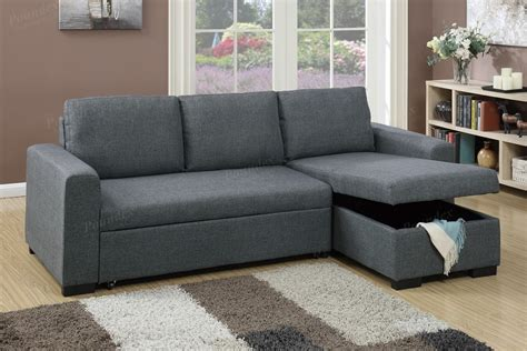 storage chaise sofa blue grey fabric storage chaise sectional sofa