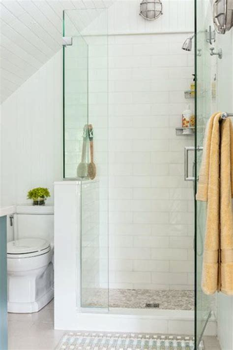 Glass Showers For Small Bathrooms 38 White Shower Tile Ideas And Pictures