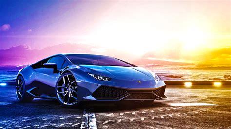 Lamborghini Sports Car Pictures Lamborghini Blue Sports Car Wallpaper Hd Image Picture