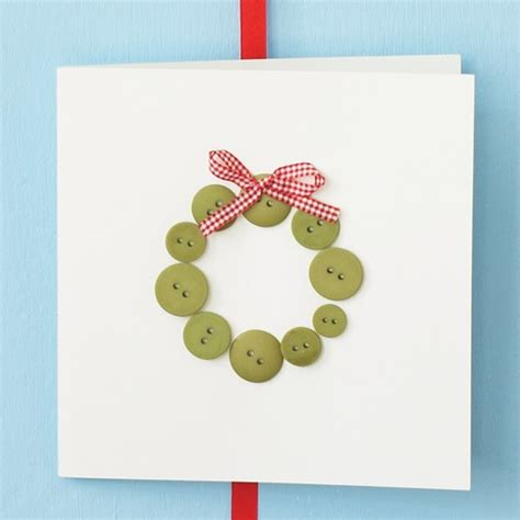 christmas card ideas glue on buttons how to make your own christmas cards