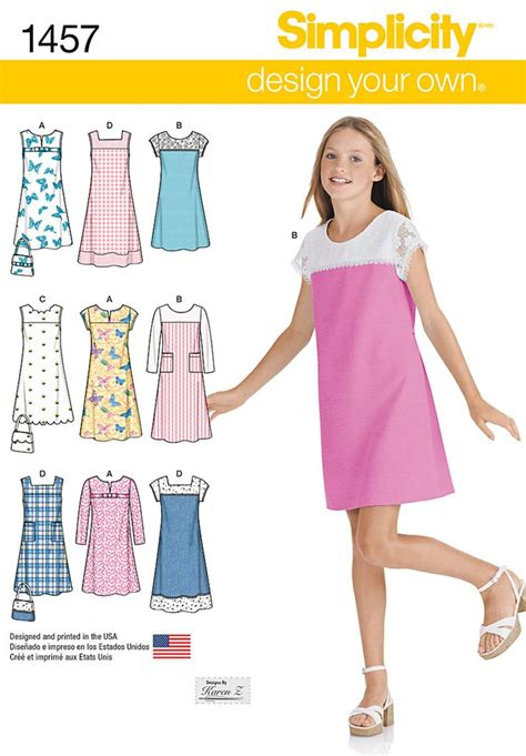pattern changing clothes simplicity girls girls plus pullover jumper or dress in