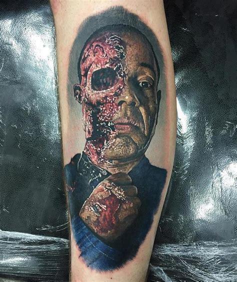 walking dead zombie tattoo by steve butcher tattoos