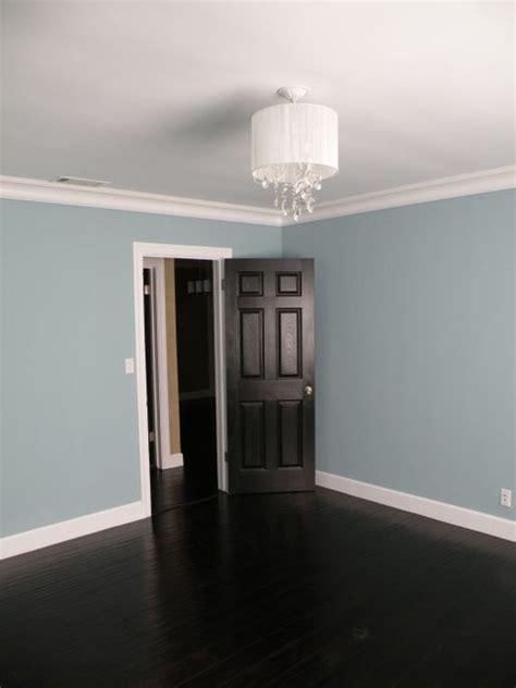 Benjamin Moore Gray Owl Kitchen by Dark Wood Floors
