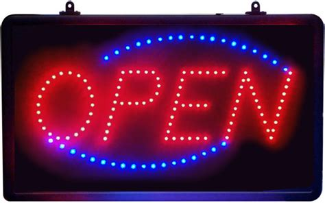 Led Sign Open led open sign animated oval window led sign