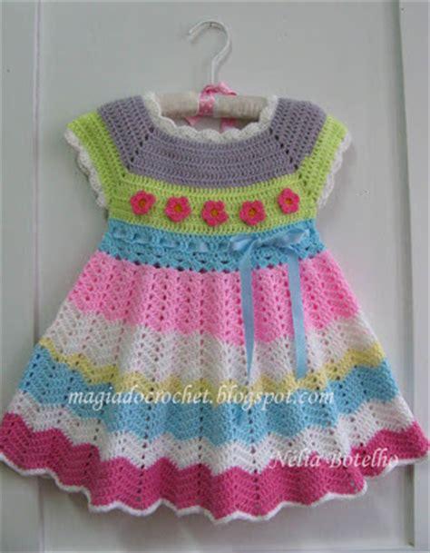 magiadocrochet blogspot magia do crochet vestido em crochet para uma menina