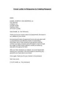 cover letter requesting cover letter in response to catalog request hashdoc