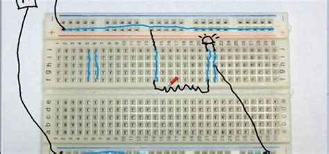 circuit to breadboard how to learn basic electronics electricity a basic circuit and breadboard 171 hacks mods