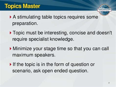 toastmasters club meeting roles and resposiblities