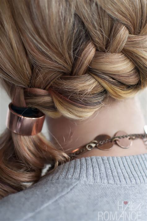 braided hairstyles side ponytail quick chic side ponytail french braid hairstyle for long