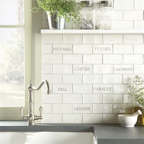 Kitchen Splashback Tiles Ideas | herbs spices tile splashback from the winchester tile