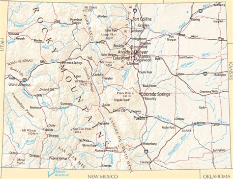 colorado map with cities map of colorado cities