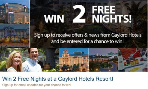 gaylord hotel and other sweepstakes december 2014 milesgeek milesgeek - Hotel Sweepstakes