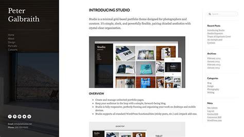 wordpress layout sidebar showcase of beautiful wordpress themes with left sidebars