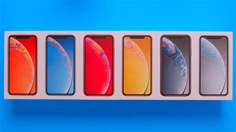 all iphone xr colors unboxing comparison