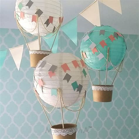 Handmade Air Balloon Decorations - whimsical air balloon decoration diy kit air balloon