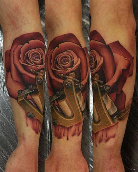 tattoo 3d machine 3d rose tattoo john anderton http best3dtattoos com