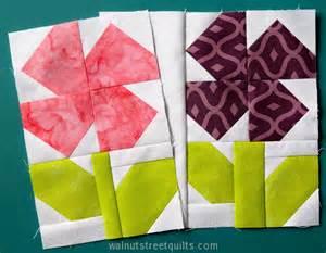 Flower Quilt Block flower label tutorial