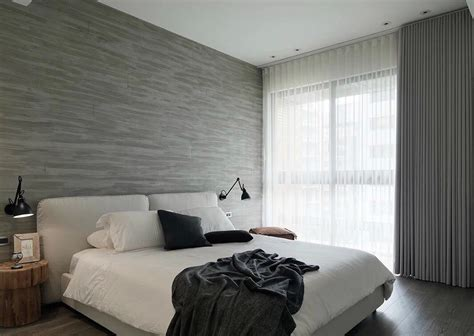 monochrome bedroom asian interior design trends in two modern homes with
