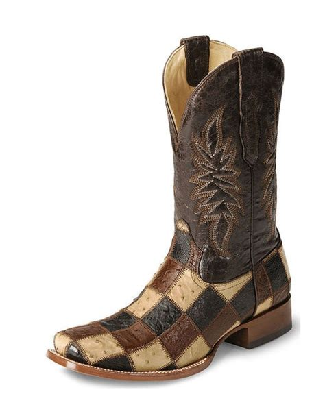 Corral Patchwork Boots - mens smooth ostrich patchwork boot i would so wear these