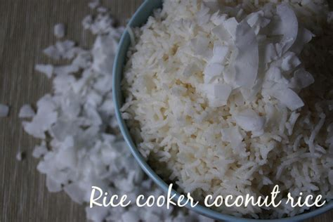 rice cooker coconut rice planning with kids