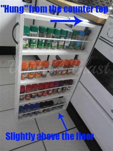 Hometalk   DIY Sliding Spice Rack