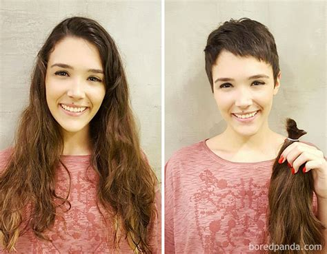 before and after haircuts to make you look younger 10 extreme haircut transformations that will inspire you