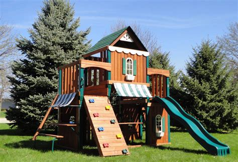 playhouse with swing set have fun this summer with swing n slide juneau wood