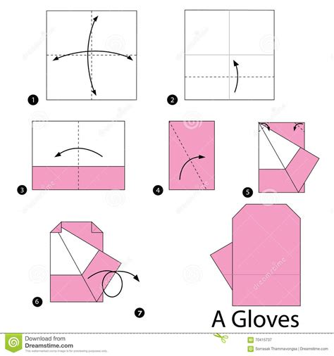 How To Make A Paper Glove - step by step how to make origami an gloves