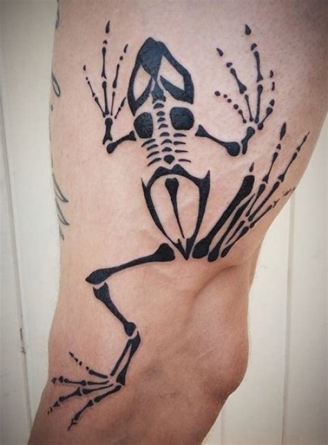 exclusive frog skeleton tattoos ideas 2018