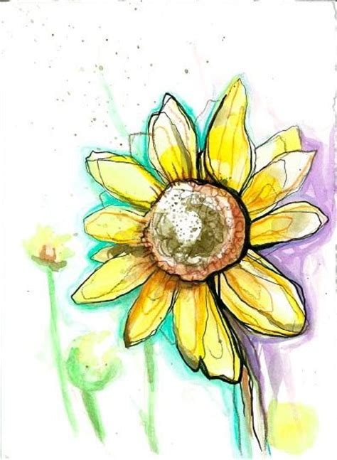 sunflower watercolor tattoo watercolors watercolor sunflower and half sleeves on