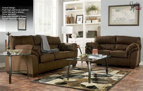 mocha microfiber sofa mocha microfiber casual sofa loveseat set by ashley design