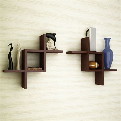 wooden wall shelves brown wooden wall shelf set of two wall shelves artesia